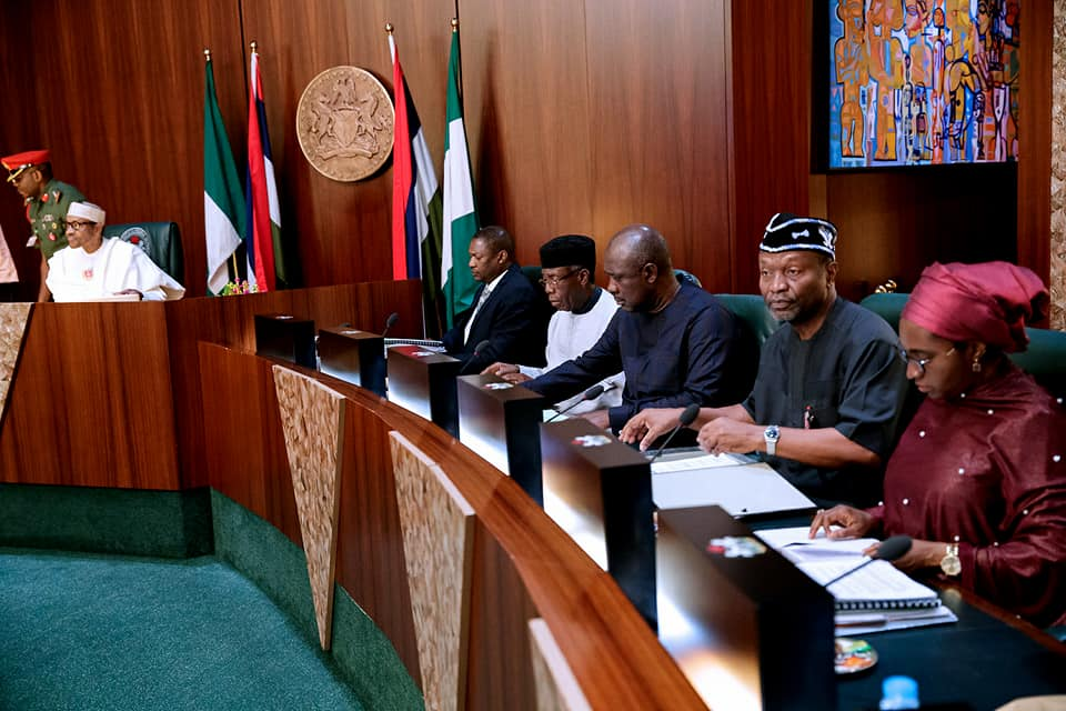 Photos: President Buhari signs condolence register in honour of late former VP, Alex Ekwueme