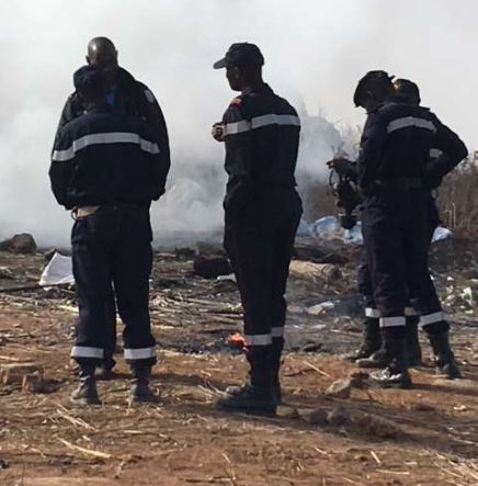 Photos: Authorities in?Senegal burn?4.5 tonnes of cannabis
