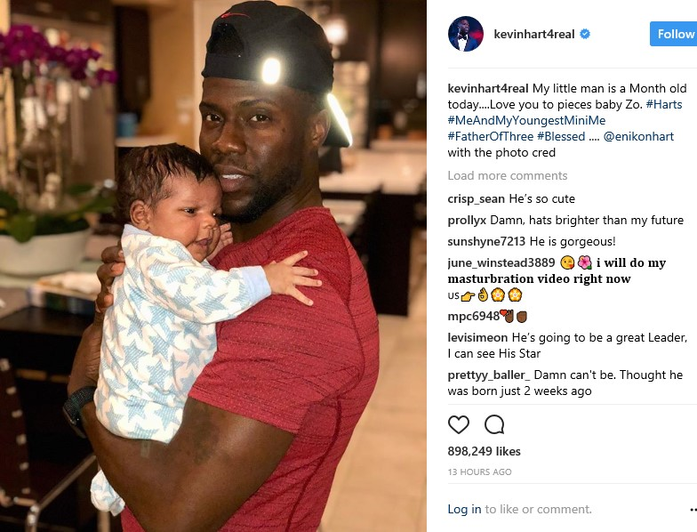 Kevin Hart and his wife Eniko gush over their new son as he turned one month
