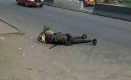 Masquerade killed by speeding car driver in Akwa Ibom (Photos)
