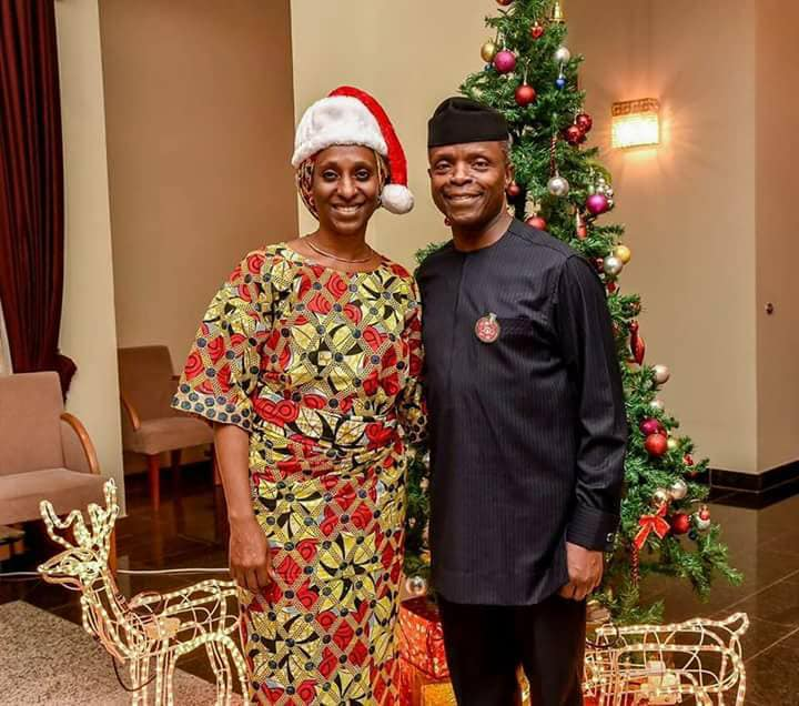 Vice President Yemi Osinbajo and his wife, Dolapo,  release new photos as they wish Nigerians a Merry Christmas
