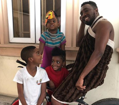 Singer Timi Dakolo shares cute photo with his kids