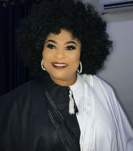 Checkout Sola Sobowale in her monochrome Agbada