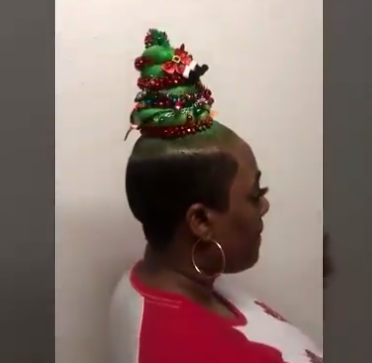 Check out photos of this Christmas tree hair