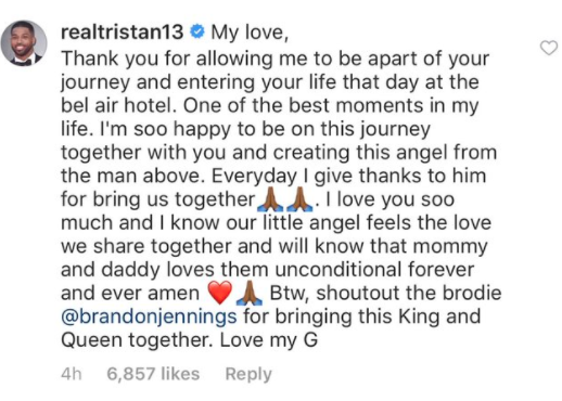 Tristan Thompson Writes heartfelt letter to Khloe Kardashian about pregnancy