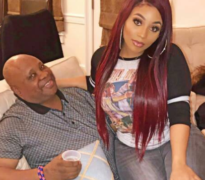 Lovely photo of Senator Adeleke and his daughter