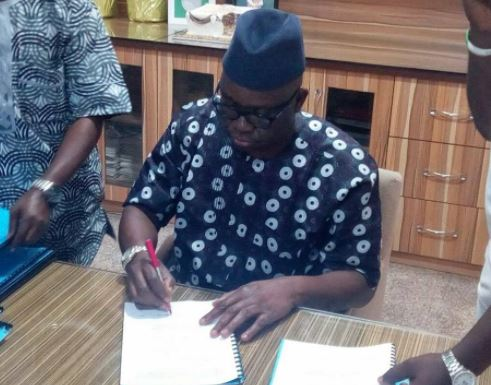 Governor Fayose signs N98.6 billion budget for 2018 into law