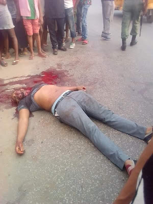 Truck conveying iron gates kills newly married lecturer in Aba (Graphic Photos)
