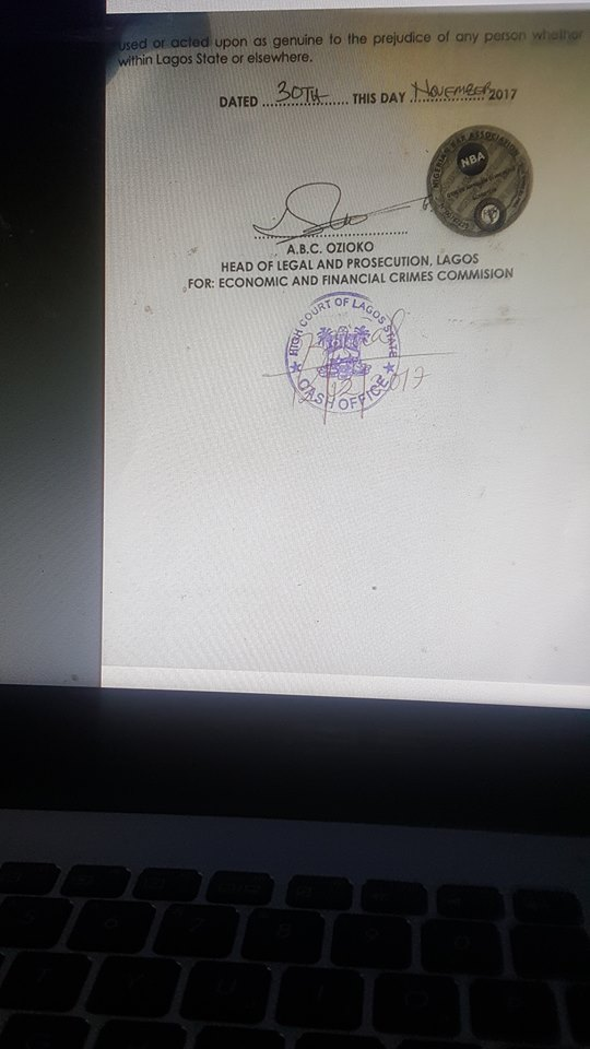 Breaking: EFCC files fraud charges against Innoson motors chairman, Innocent Chukwuma, see copies of the charge sheets