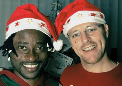 Bisi Alimi and partner, Anthony, share their beautiful 2017 Christmas card photo