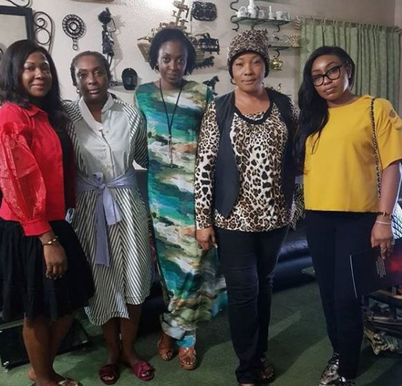 Photo:?Rita Dominic, Kate Henshaw, Susan Peters spend Christmas with?Echaria Anunobi who lost her son few months ago
