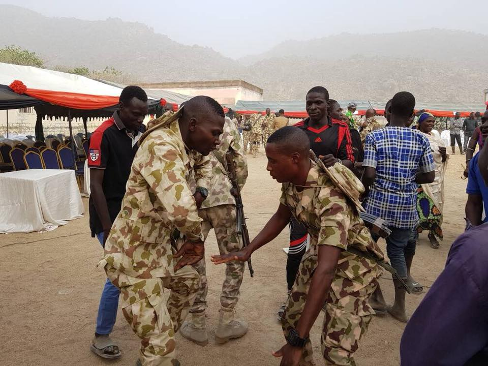 Photos of Troops celebrating Christmas in Gwoza and Buni Yadi