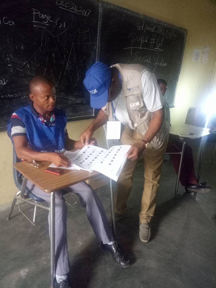 #LiberiaDecides: Photos of ex-President Goodluck Jonathan as an election observer in Liberia