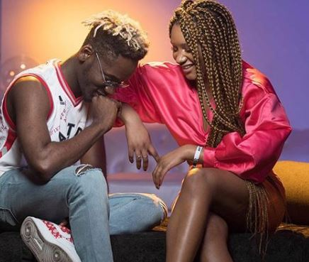 New loved up photos of Mr Eazi and his boo, Temi Otedola