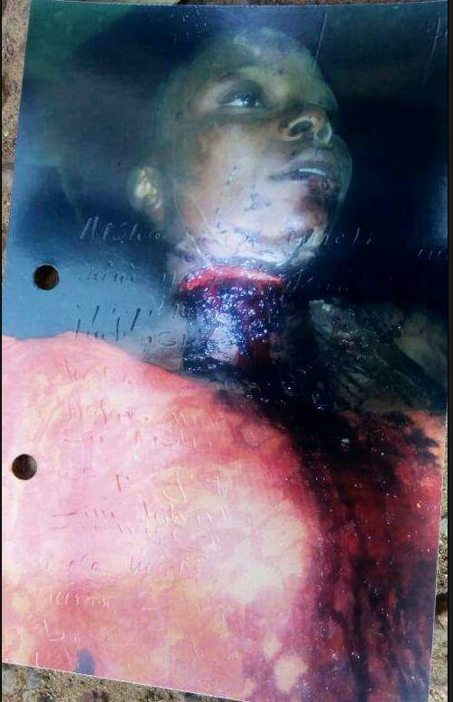 Graphic photo: 23-year-old man arrested in Katsina State after he slashed his girlfriend