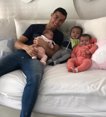 Cristiano Ronaldo poses with his three youngest children in cute new photo