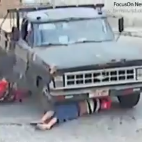 Man miraculously survives after being run over by a truck (video)