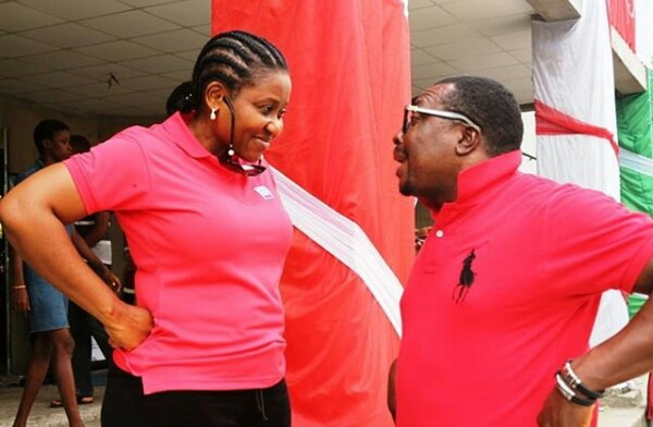 Photo: Ehen? What could Alibaba and his wife be gossiping about?