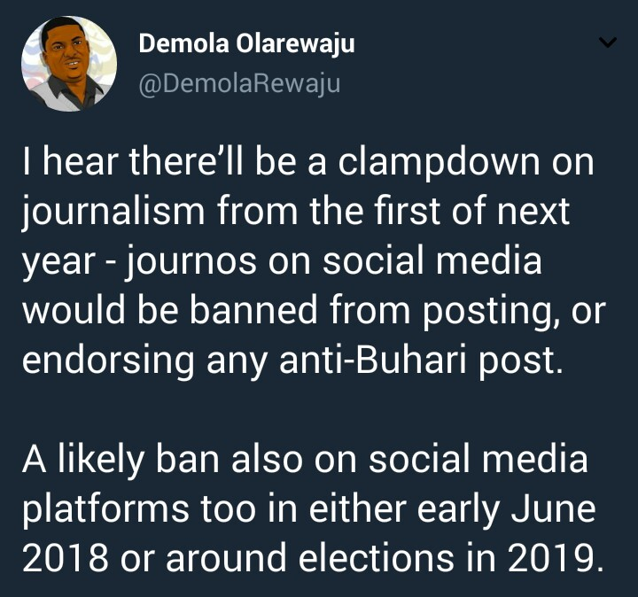 Government to clamp down on anti Buhari social media posts from next year?