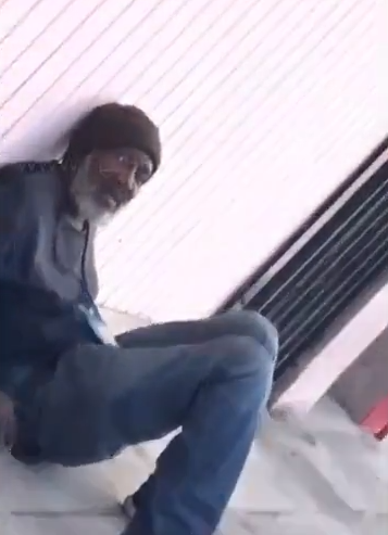 Woman films herself urinating on a homeless man and shares it online (video)
