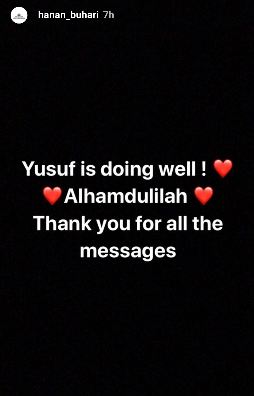 """""Yusuf is doing well"" President Buhari"