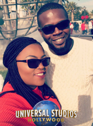 Funke Akindele-Bello and her husband, JJC Skillz vacation in Los Angeles