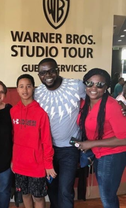 Funke Akindele-Bello and her husband, JJC Skillz vacation in Los Angeles