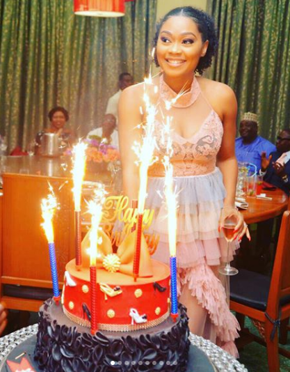 Photos: Iyabo Ojo, Fathia Williams, E-Money and his wife, Kcee, Peggy Ovire, others at actress, Tana Adelana