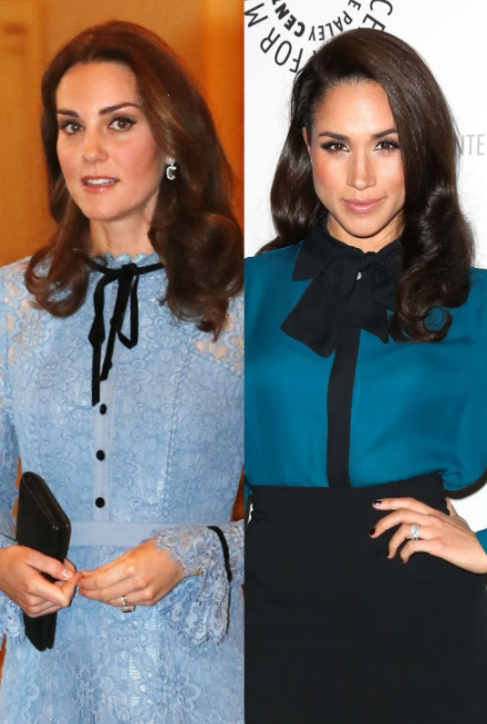 12 times Kate Middleton and Meghan Markle dressed exactly the same