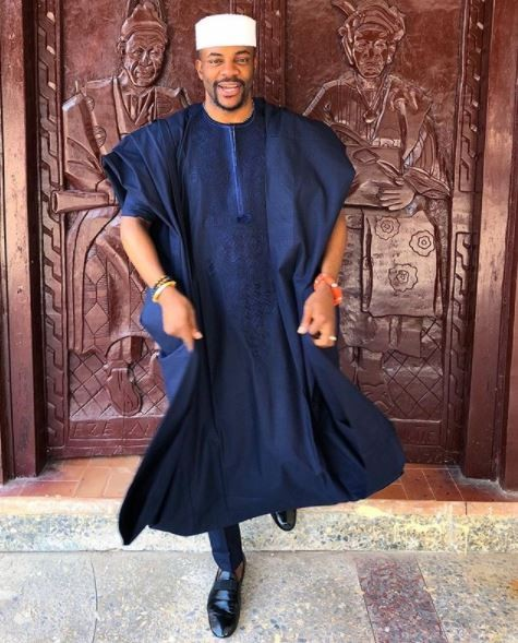 Photo: Ebuka steps out in yet another Agbada!