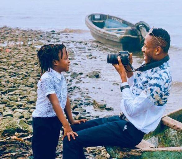 Mr 2kay celebrates his son
