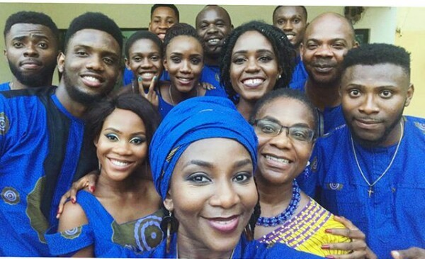 Nollywood actress, Genevieve Nnaji shares photos with members of her family
