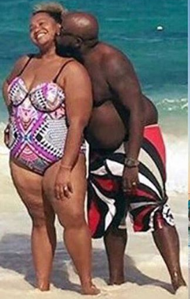 Couple who shed half their body weight in one year share before and now photos