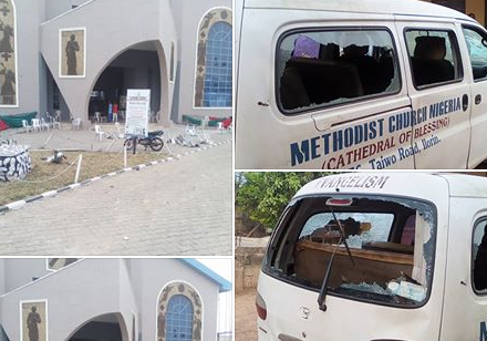"""Muslims attacked churches during crossover Night service and raped girls""- Ilorin-based Pastor alleges (photos)"
