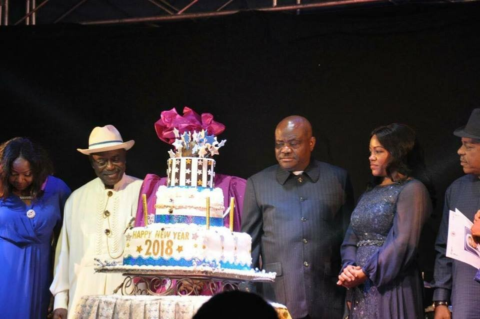 Photos: Rivers state governor, Nyesom Wike and his wife, Suzette, share a kiss at the state