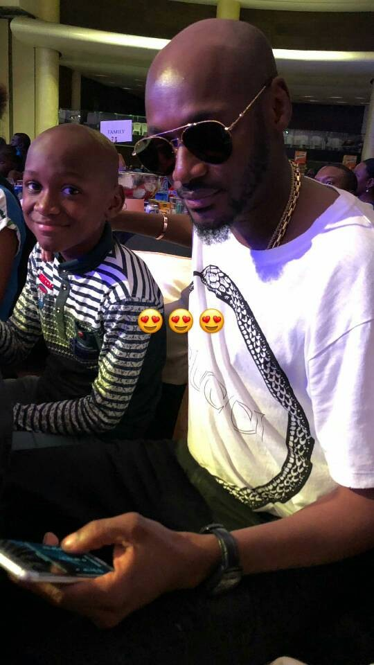 Lovely photo of 2face Idibia and his first son, Nino