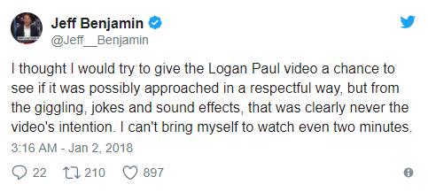 YouTube star Logan Paul slammed for filming dead body of suicide victim
