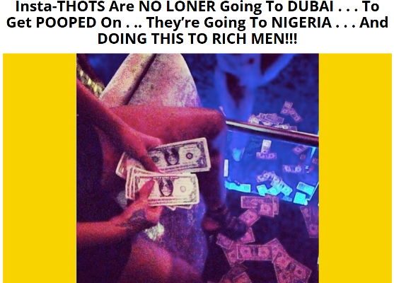Hmmm, Nigeria is the new destination for runs girls to get pooped on for money?