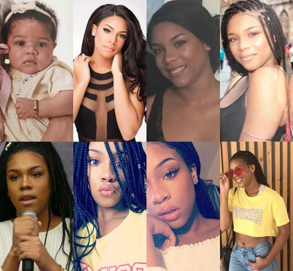 Regina Askia shares before and now photos of her look-alike daughter who turned 16 today