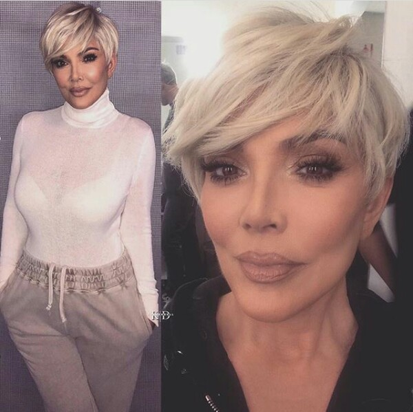 Kris Jenner debuts new blonde pixie cut...and looks exactly like her daughter, Kim Kardashian