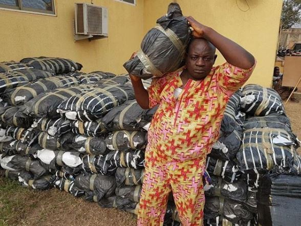 Ogun State Police command arrests man with?114 bags of cannabis