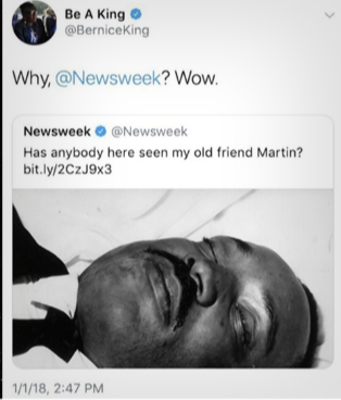 Newsweek posts photo of Martin Luther King in his casket;  MLK