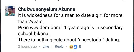 Nigerian lady says it