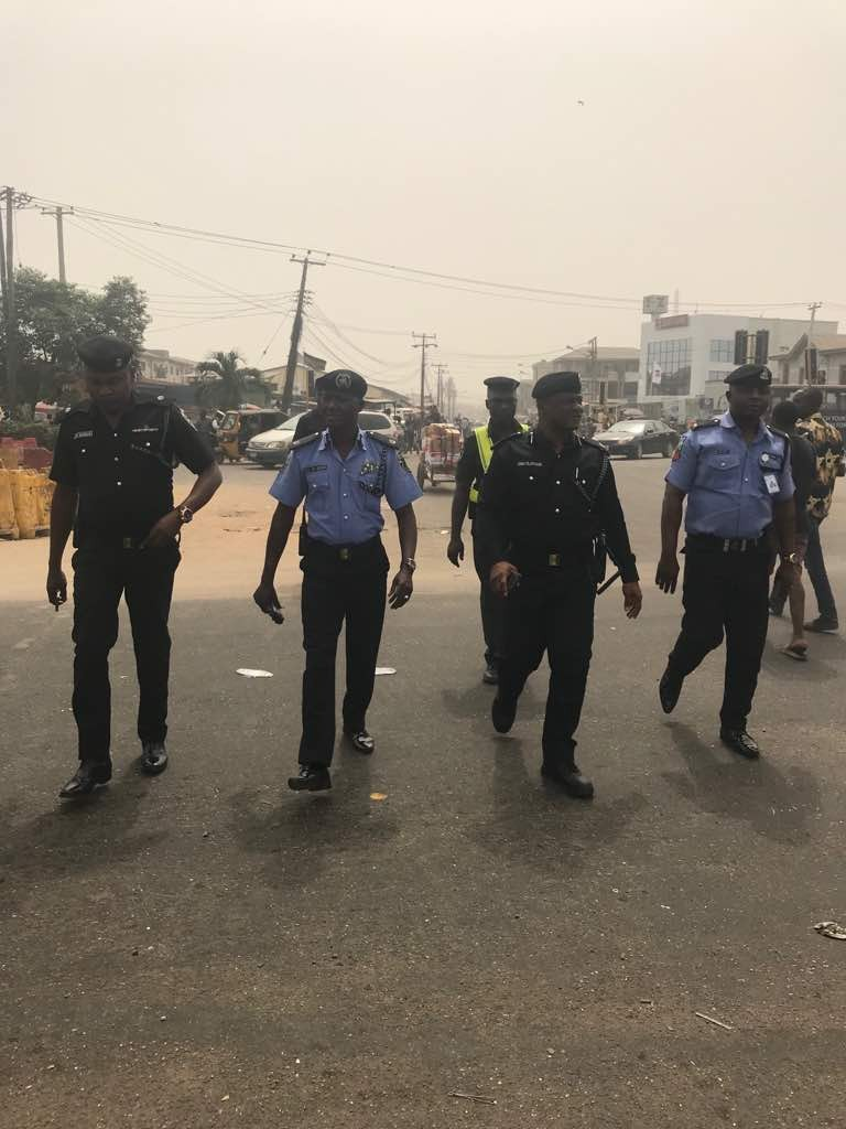 Agege Fly - Over Construction:RRS Commander and Area G commander go on Agege inspection tour to ensure free flow of traffic