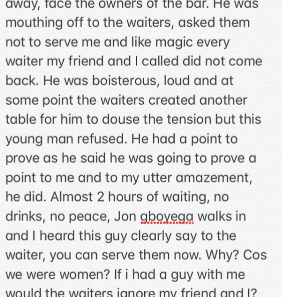 Toke Makinwa narrates her shocking experience with the bodyguards of Nigerian-Hollywood actor, John Boyega at a Lagos restaurant