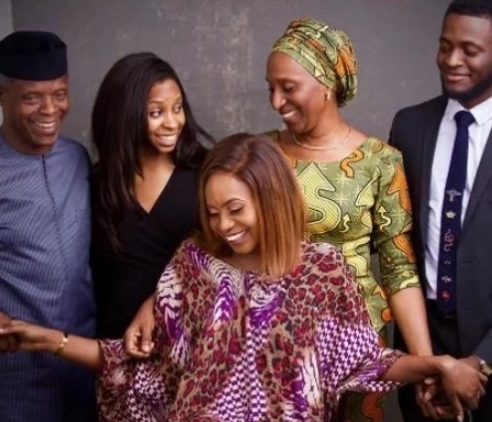VP Yemi Osinbajo, his wife and children holiday in Dubai