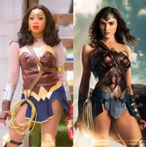 Who rocked it better? Toyin Lawani vs Wonder Woman actress, Gal Gadot
