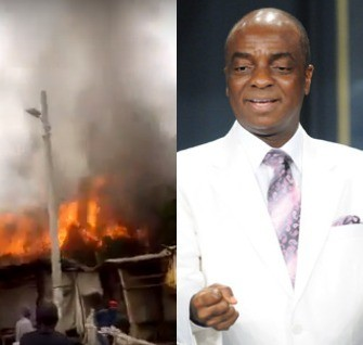 Photos/Video: Bishop David Oyedepo?s church gutted by fire