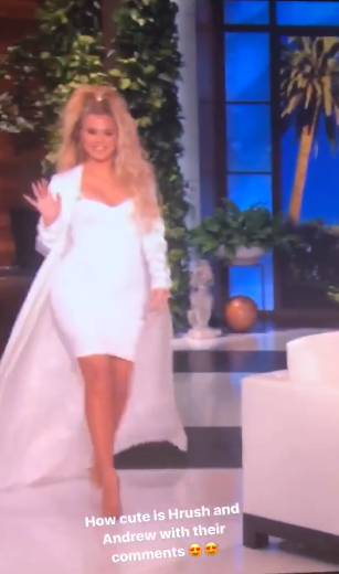 "Pregnant Khloe Kardashian looked like a ""bronze golden goddess"" when she went on The Ellen Show"