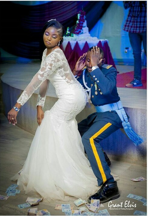 Lol! What could this father be thinking about his gyrating NAF officer son?